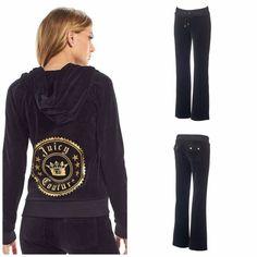 a0a94d689de1d NWT Juicy Couture Velour Tracksuit Women Embellished Jacket Boot cut Pants  XL