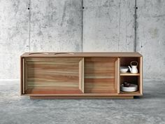 Larch sideboard with sliding doors LÀRES by FIORONI | design act romegialli