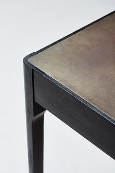 Brass Topped Table - Taper Leg by James Mudge @ Esque