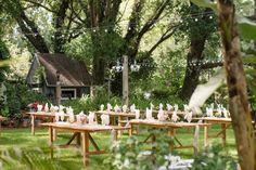 Rustic, Country Outdoor Wedding Reception