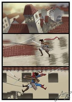 While using 3D Maneuvering Gear, be on the look out for your friendly neighborhood Spider-Man.