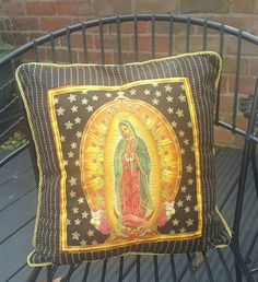 Check out this item in my Etsy shop https://www.etsy.com/uk/listing/481154705/our-lady-of-guadalupe-black-cushion-16-x