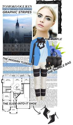 """Tomoko Ogura's Top 5 Trends for Spring"" by gab-ree-ella ❤ liked on Polyvore"