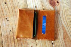 Artisan Iphone leather wallet Iphone 4 case by JustWanderlustShop...$66