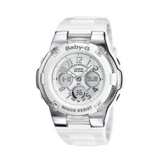 Casio Ladies Baby-G White Stainless Steel and Resin Watch