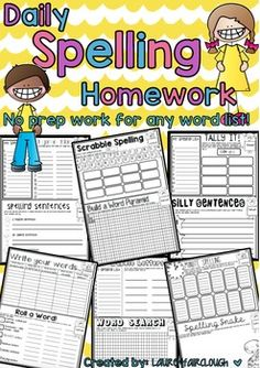4 weeks of differentiated word work and spelling practise for any word list!These fun, engaging and differentiated activities will appeal to and support a variety of students with various learning styles. Designed for best use as a homework or morning work book it includes 4 activities a week and runs for a duration of 4 weeks (by which time your students will be ready and eager to start again!)