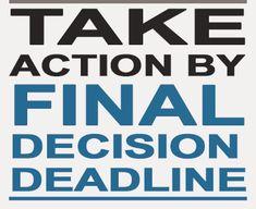 TAKE ACTION BY FINAL DECISION
