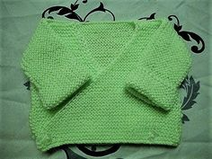 TUTO TRICOT BRASSIERE KIMONO BEBE FACILE ET RAPIDE EASY KNITTING BABY - YouTube
