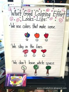 Good Coloring Anchor Chart