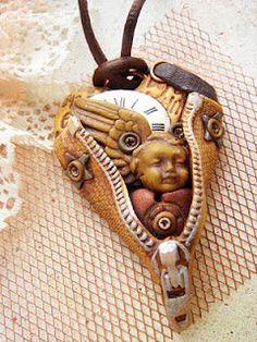 Steampunk Polymer clay jewelry tutorial