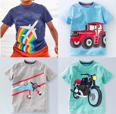9cb8b4d9 New Just In Mini Boden Boys Applique T Shirts 1 2 3 4 5 6 7 8 9 10 11 12 Yrs