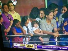 Kolkata Knight Riders have won the first match of the IPL 8 and ecstatic Shah Rukh Khan celebrates the victory by kissing his kids. Shahrukh Khan Family, Girls Best Friend, Best Friends, Abram Khan, Kissing Him, Bollywood Actors, Victorious, Love You, Couple Photos