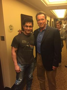 Aamir with the Terminator