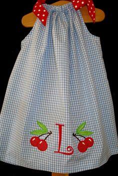 Google Image Result for http://www.lillifeeboutique.com/images/large/Blueginghampillowcasedresswithcherries.JPG