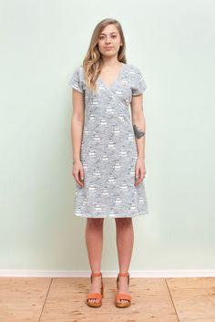 Women's Wrap Dress - High Seas Navy