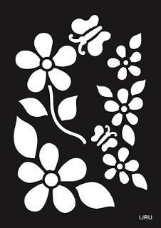 Stencil para manualidades : cositasconmesh Stencil Templates, Stencil Patterns, Stencil Painting, Stencil Designs, Fabric Painting, Stenciling, Folk Embroidery, Embroidery Patterns, Flower Clipart