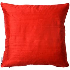 Heal's Pure Silk Cushion - Bright Red - 60x60cm ($45) ❤ liked on Polyvore featuring home, home decor, throw pillows, red, red accent pillows, red home accessories, silk accent pillows, red home decor and silk throw pillows