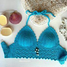 Bikini top... Tiempo de playa. Mágico y sexy crochet! Sonrisas para todas! Bikini top... Beach time. Magic and sexy crochet! Smiles for all!