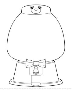 gumball machine outline