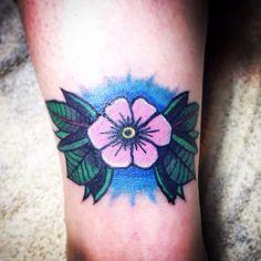 Peach flower tattoo