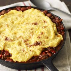 Quick and Cheap Dinner Recipes to Love>>Chili Pot Pie with Polenta Crust
