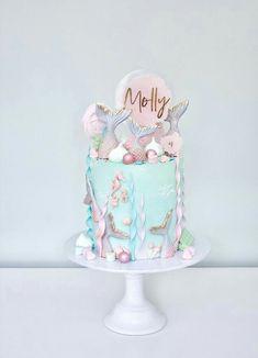 Mermaid Birthday Cakes, Baby Birthday Cakes, Mermaid Cakes, Sea Cakes, Traditional Wedding Cakes, Girl Birthday Decorations, Luxury Wedding Cake, Crazy Cakes, Buttercream Cake