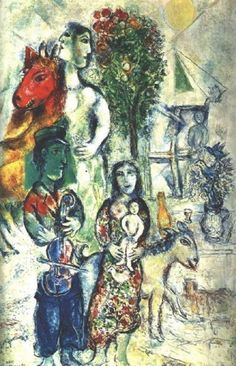 Chagall, Marc - The Family - Ecole de Paris - Oil on canvas - Abstract