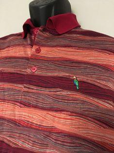 cf46ef8b18ba0 BUGATCHI UOMO Golf Polo Shirt Large Mercerized Cotton Abaco Club Bahamas  Parrot  BugatchiUomo  PoloRugby