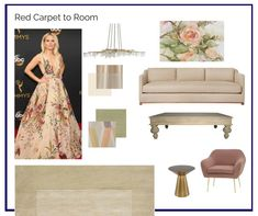 Room in a Box: Red Carpet to Room - The Interior Design Advocate Blue Brown, Blue Grey, Interior Design Resources, Carpet Design, Interior Paint, Room Inspiration, Hue, Strapless Dress Formal, Red Carpet