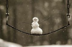 ".That snowman has the ""happiest"" look on his little face!!! Love it!"