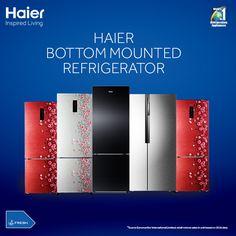 Introducing the all new range of #Haier #BottomMountedRefrigerator!   #refrigerator! #HaierIndia #Technology #Appliances #InspiredLiving #Innovation #Fridge #Refrigerators #Haier