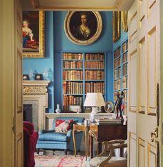 Blue walls - Linley in Shropshire