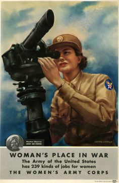 Military Poster / Print: Woman's place in war... | Pritzker Military Museum & Library | Chicago
