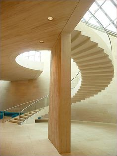 Staircase by I.M. Pei at the Museum for Contemporary Art in Luxembourg