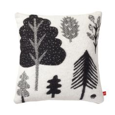 Forest Woven Cushion - Black/White - Donna Wilson, graphic, forest, woodland, graphic, illustration