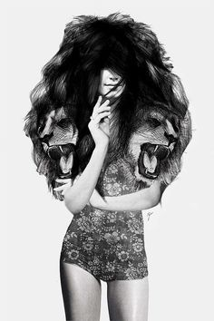 Illustration by Jenny Liz Rome: 'Themes of femininity, raw animal nature, and surreal fashion'. Seriously cool. http://theinspirationgrid.com/mixed-media-illustrations-by-jenny-liz-rome/