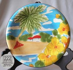 Salad Plate 222 Fifth PTS International Bahamas Pattern | eBay