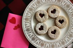 linzer cookies by whipped Gourmet Recipes, Sweet Recipes, Cookie Recipes, Dessert Recipes, Desserts, Dessert Ideas, Valentines Day Food, Valentine Treats, Linzer Cookies