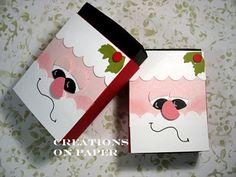 Creations on Paper: Christmas Matchbox - Santa