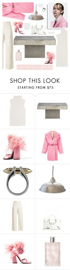 """""""Industrial Pink"""" by barngirl ❤ liked on Polyvore featuring Theory, CB2, Prada, N°21, Plukka, William & Watson, The Row, Balenciaga and Burberry"""