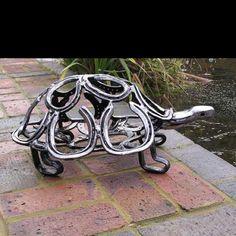 Recycled horseshoes