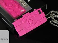 chanel fuchsia lego clutch/ crossbody iphone 5/5S case