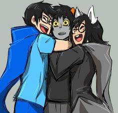 Oh I love this picture. Karkat looks so surprised that someone is actually happy to see him -- omg i cant