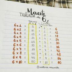 from - Macete da tabuada do 6 🇧🇷 // Kah Multiplication Tricks, Maths Tricks, Math Hacks, Math Magic, Math Formulas, Bullet Journal School, School Study Tips, Math Help, Lettering Tutorial