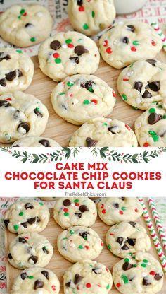 Christmas Deserts, Holiday Desserts, Holiday Baking, Christmas Treats, Christmas Goodies, Homemade Christmas, Christmas Recipes, Christmas Time, Santa Cookie Recipe
