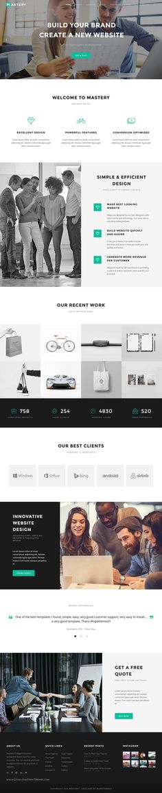 Mastery is elegant and creative business WordPress #theme with 20+ stunning homepage layouts for multipurpose responsive #website. Download Now!