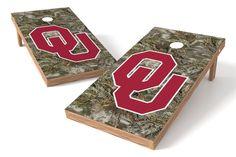 Oklahoma Sooners Cornhole Board Set - Realtree MAX-1® Camo http://prolinetailgating.com/