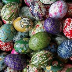 Washi paper eggs