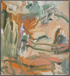 Pictures and details of De Kooning: Five Decades at Mnuchin Gallery, New York, April 19 – June 2019 – Contemporary art with installation views Expressionist Artists, Abstract Expressionism, Abstract Art, Willem De Kooning, De Kooning Paintings, Oil Paintings, Map Art, Artist Art, Colors