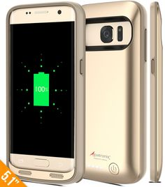 Galaxy S7 Battery Case, Alpatronix BX420 4500mAh Slim External Protective Removable Rechargeable Portable Charging Case for Samsung Galaxy S7 [S7 Charger Case / Android OS 6.0+ Support] - (Gold) -- Awesome products selected by Anna Churchill
